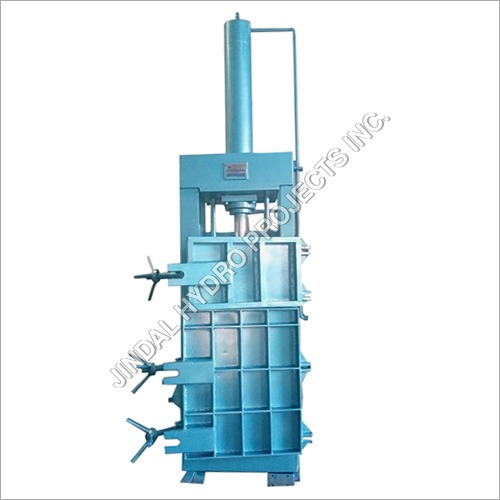 Single Box Double Door Hydraulic Baling Press Machine