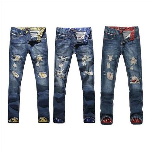 Mens Designer Ripped Jeans