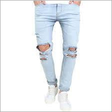 Men Knee Ripped Jeans