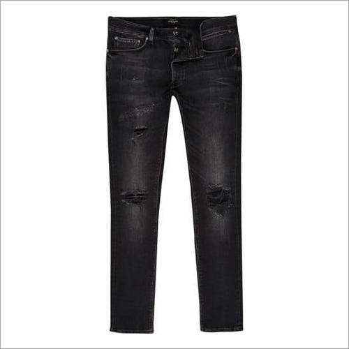 Men Black Lycra Jeans