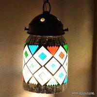 Handmade Mosaic Glass Hanging Lamp