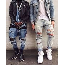 Men Partywear Ripped Jeans