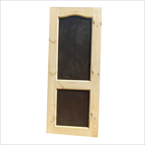 2 Panel Solid Wooden Pine Door