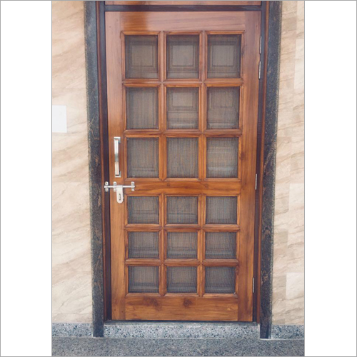 Wooden  Mosquito Net Door