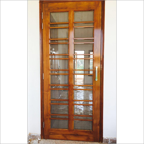 Mosquito Net Wooden Door