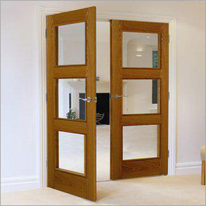 Wooden Glass Door Panel