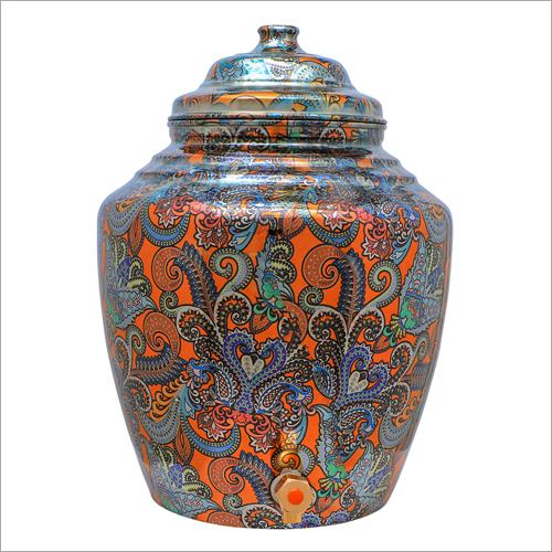 Printed Copper Water Dispenser Pot