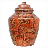 Pure Printed Copper Water Pot