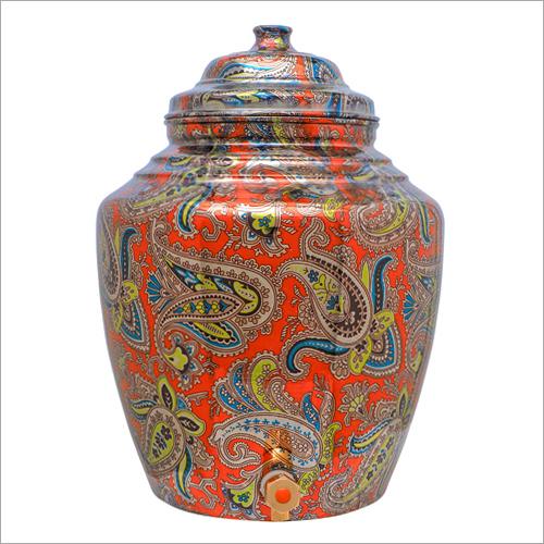 Printed Pure Copper Water Pot