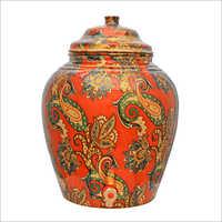 Handmade Printed Copper Water Storage Pot