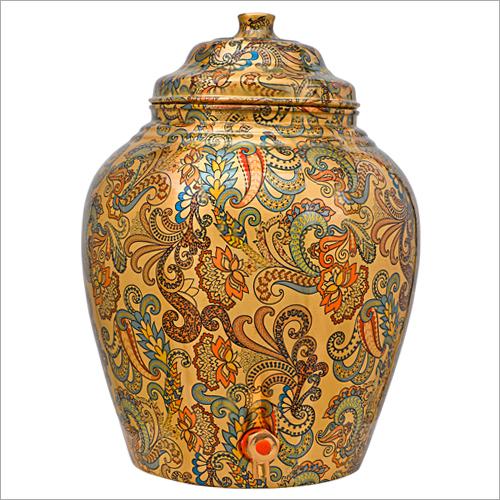 Fancy Copper Printed Water Dispenser Pot