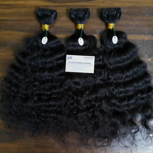 Curly Raw Indian Hair Weft Extension