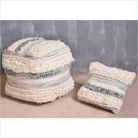 Hand Woven Wool Pouf