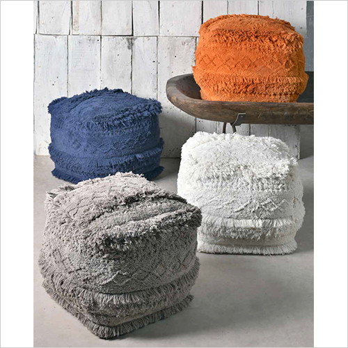 Cotton Chenille Poufs