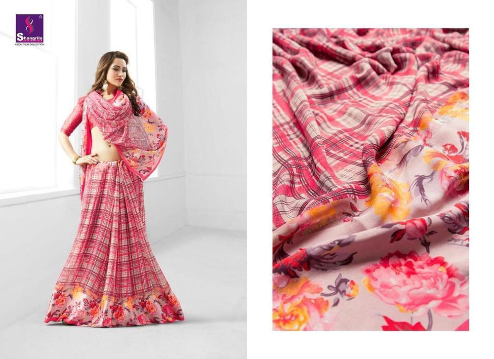 Fancy Print Sarees