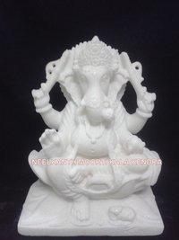 White Marble Ganesh
