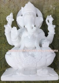 Ganesha Statue Pure While