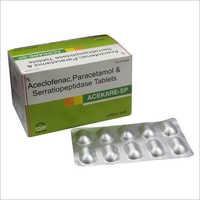 sp Aceclofenac Paracetamol  Serratiopeptidase Tablets