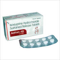 40 Isoxsuprine Hydrochloride  Tablets