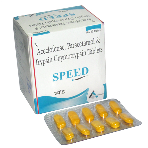 Aceclofenac Paracetamol And Trypsin Chymotrypsin Tablets