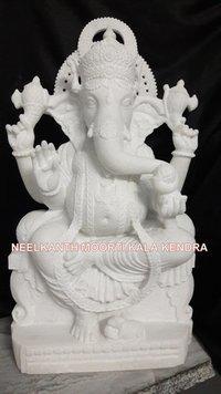 White Ganesh Murti