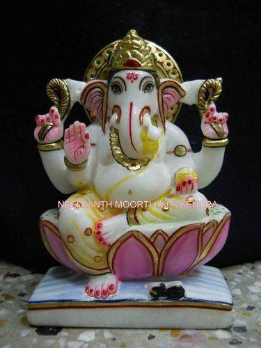 Multicolor Marble Ganesha Statue