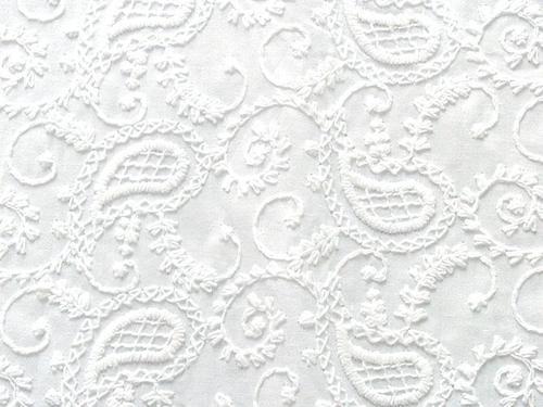 Cotton Machine Embroidery / Cotton Machine Embroidered Fabric