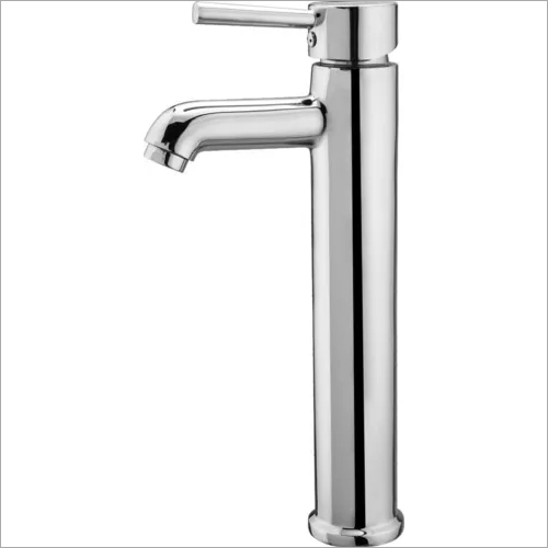 BRASS SINGLE LEVER BASIN MIXER TALL BOY