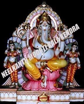 Marble Ganesha Darbar Statue