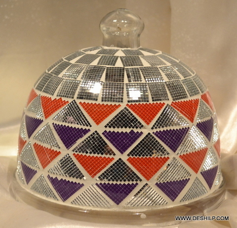 Glass Mosaic Antique Cake Cover