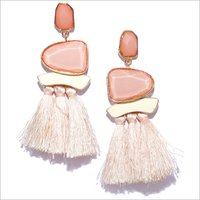 Earring-Simon Tassels White