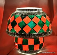 TWO COLOR EFFECT GLASS TABLE LAMP