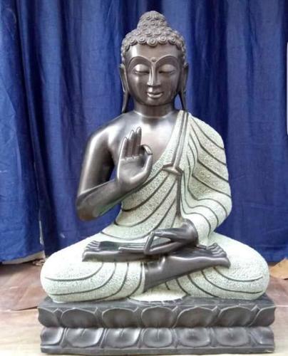 Black Stone Buddha Statues