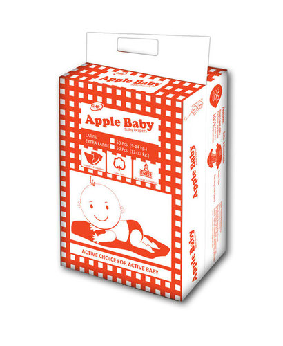 APPLE BABY CLOTHLIKE VELCRO 50PCS