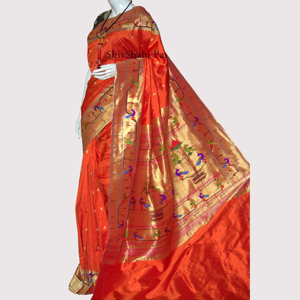 Brocked Paithani Saree