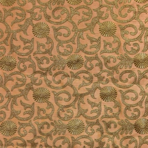 Silk Embroidery Work / Embroidered Silk Fabric