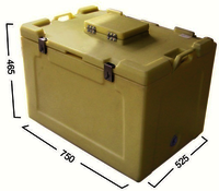 Vending Lid Insulated Ice Box 100 Ltrs.