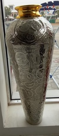 metal Embossed Flower Vase