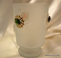 FROSTED GLASS DECOR FLOWER VASE