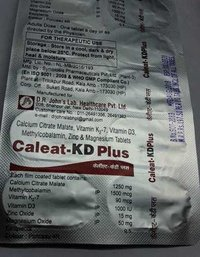 calcium citrate malate vitamin k2-7 vitamin d3 tablets methylcobalamin zinc