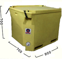 Rubber Clamp Insulated Ice Box 330 Ltrs.