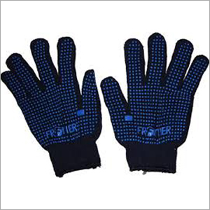 fruntiur dotted blue hand gloves