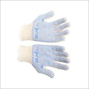 fruntiur白色被加点的手手套