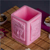 Buddha Pink Wax Candle Holder