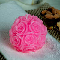 Big Rose Pink Candle