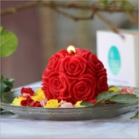 Big Rose Red Candle