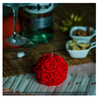 Big Rose Red Candle pack of 1