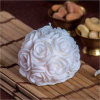 Big Rose White Candle