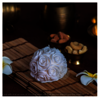 Big Rose White Candle pack of 1