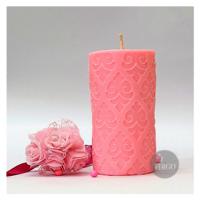 Embossed Pillar Motif Pink